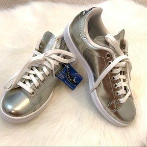 Adidas Stan Smith gold/silver ortholite size 7.5